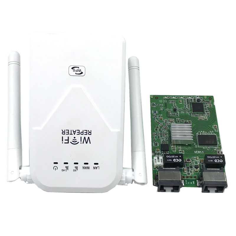 802.11b/g/n/ac Wireless Wifi Repeater 750 Mbps Mini Repetidor Wifi Signal Amplifier EU/US 2.4G+5.8G Wifi Extender 2*5dBi Antenna