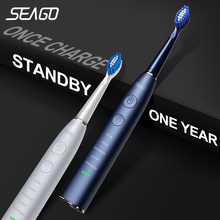 Sonic Toothbrush Gift SG-575 Electric Rechargeable Seago Adult Waterproof Ce Replacement-Heads