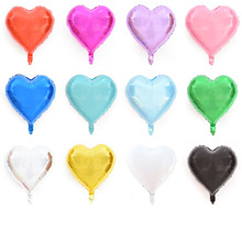 18 inch heart-shaped aluminum film balloon wedding holiday party decoration love foil 4 to send glue point