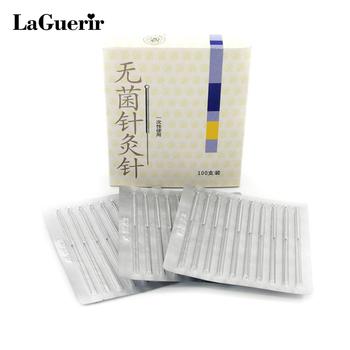 100 sztuk igła do akupunktury jednorazowa sterylna igła bez rurki chińskie igły do akupunktury twarz ciało stopa akupunktura tanie i dobre opinie LaGuerir S050019