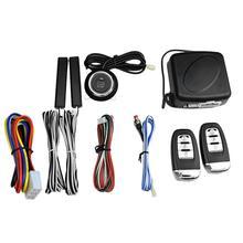 12V Universal Car SUV Keyless Entry Engine Switch Start Alarm System Push Button Remote Starter Stop Auto Anti-theft