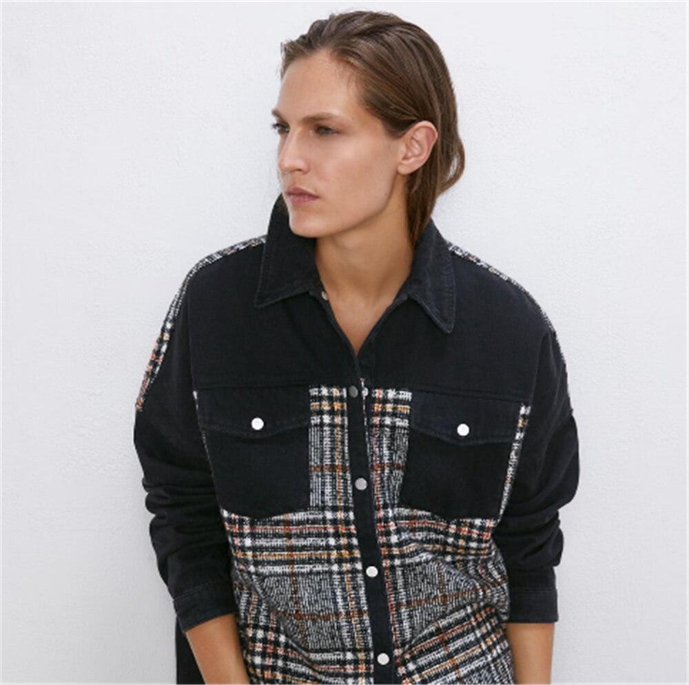 2019 za 여성 자켓 패션 새로운 가을 여성 포켓 스티치 자켓 보헤미안 옷깃 긴 소매 느슨한 자켓 코트 파티