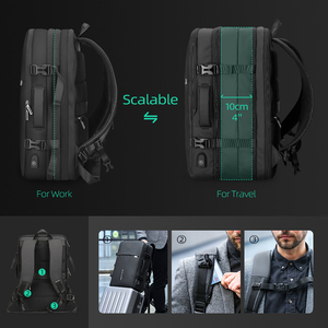 Image 4 - Mark Ryden Men Backpack Fit 17 inch Laptop USB Recharging Multi layer Space Travel Male Bag Anti thief Mochila