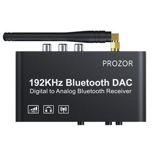 Image 4 - PROZOR DAC Converter Built in Bluetooth Receiver 192kHz DAC With IR Remote Control Digital Coaxial Toslink to  L/R RCA 3.5mm