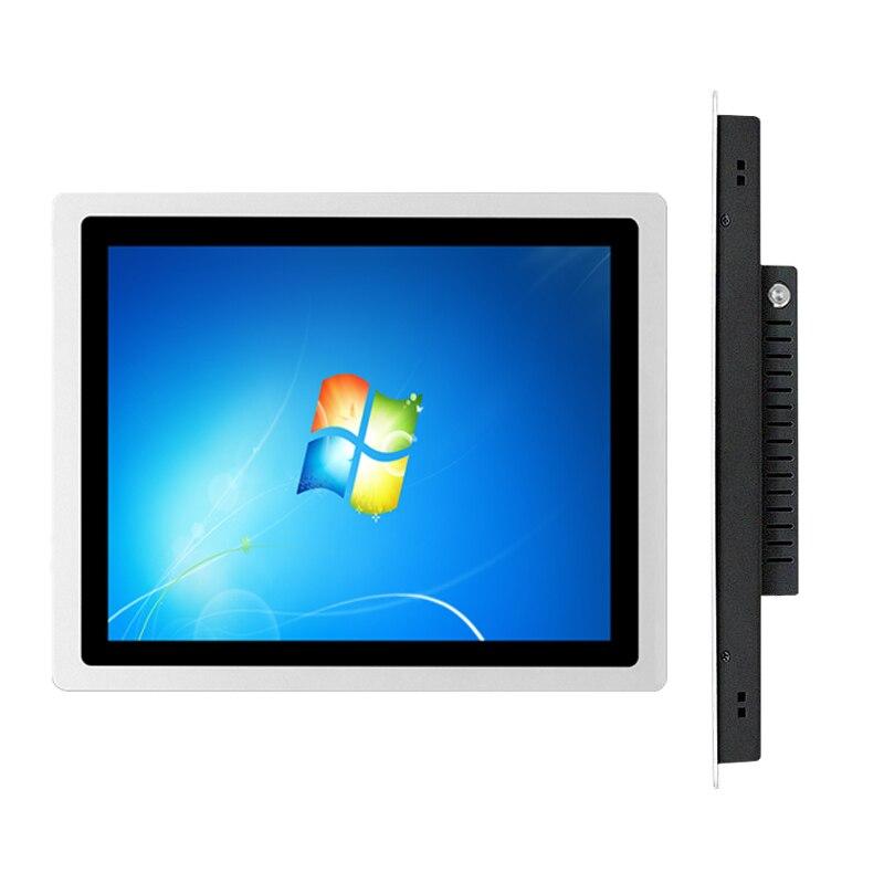 17 дюймов Встроенный ёмкостный сенсорный промышленный Панель ПК, 4G Оперативная память 32G SSD core J1800/i3/i5/i7, применяется для настенного все-в-одно...