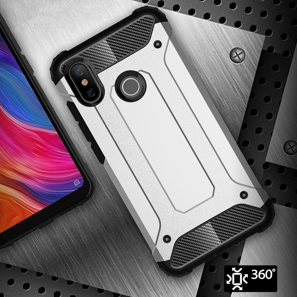Neo Reinforced <font><b>Armor</b></font> <font><b>Case</b></font> for <font><b>Xiaomi</b></font> <font><b>Mi</b></font> CC9 9T 9 8 SE <font><b>A1</b></font> A2 A3 Lite Redmi 6A 7A Note 5 6 7 8 Pro Hybrid Bumper Protective Cover image