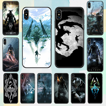 Game The Elder Scrolls Skyrim Phone Case Cover Hull For iphone 5 5s se 2 6 6s 7 8 12 mini plus X XS XR 11 PRO MAX black silicone image