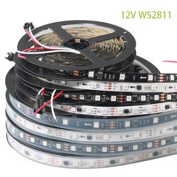 DC12V 5M WS2811 LED Pixel Strip Light RGB Full Color 5050 Led Strip Ribbon Flexible Addressable Digital LED Tape 1 Ic Control 3 5m dc12v ws2811 2811 ic 5050 smd independent addressable rgb led pixels strip 30leds m dream magic color led pixels with control