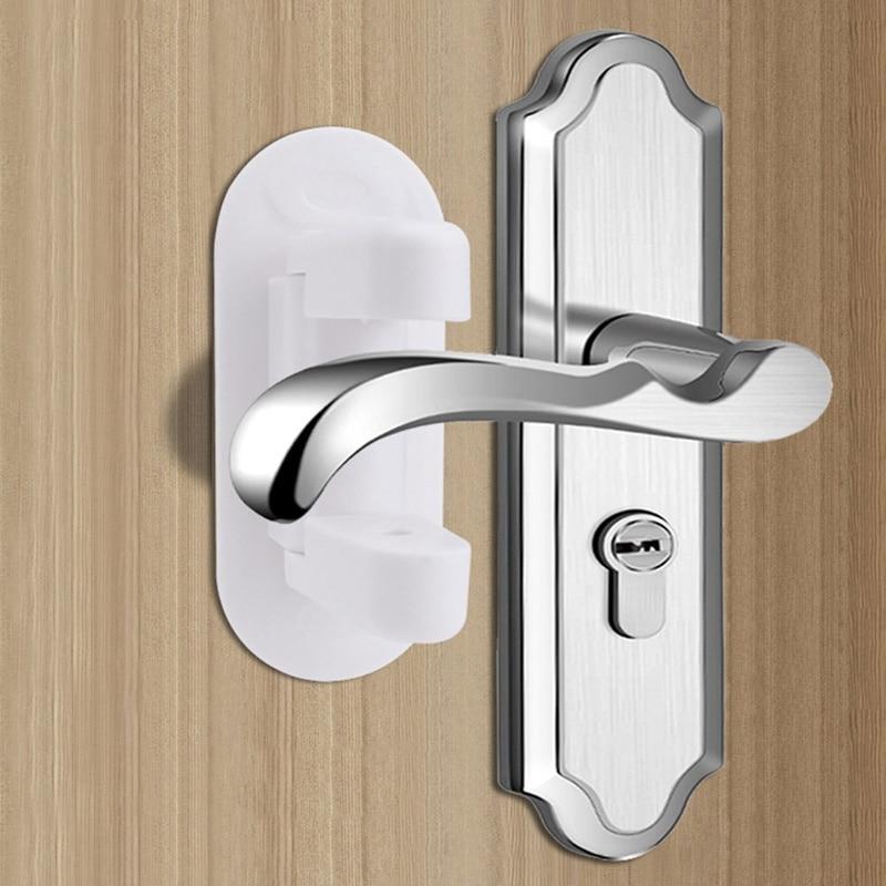 Plastic Child Safe Security Window Door Sash Lock Safety Lever Handle Sweep Latch Proof Doors Adhesive Lever Handle Safety Lock