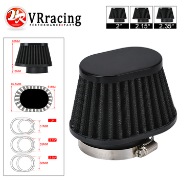 VR - Motorcycle Air Filter 60mm 55mm 51mm Universal for Motor Car Minibike Cold Air Intake High Flow Cone Filter VR-AIT32 80mm 100mm universal air filter mushroom head universal racing car air filter flow air intake system reloaded cleaner