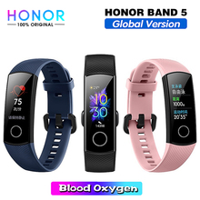 Honor Band 5 Smart Band Globale Version Blut Sauerstoff Smartwatch AMOLED Huawei Smart Band Heart Rate Monitor Fitness Schlaf Tracker