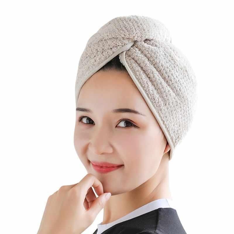 マジックヘア速乾性サロンタオル帽子マイクロファイバー速乾ターバン急速乾燥槽シャワープールラップスーパー吸収性キャップ