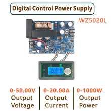 WZ5020L DC DC Buck Converter CC CV Step-down Power Module 50V 20A 1000W Adjustable Voltage Regulated power supply 5V 12V 24V