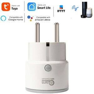Coolcam Смарт ЕС вилка поддержка Amazon Alexa Google Home IFTTT пульт дистанционного управления WiFi переключатель мини розетка с функцией синхронизации