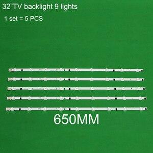 Новый комплект 5 шт. 9 Светодиодов 650 мм Светодиодная лента для Samsung UE32F5300 D2GE-320SC0-R3 2013SVS32H BN96-25300A 26508B 26508A BN96-25299A