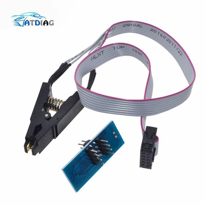 Лидер продаж SOIC8 SOP8 флэш-памяти зажим для проверки ИС розетка адаптер BIOS/24/25/93 программист
