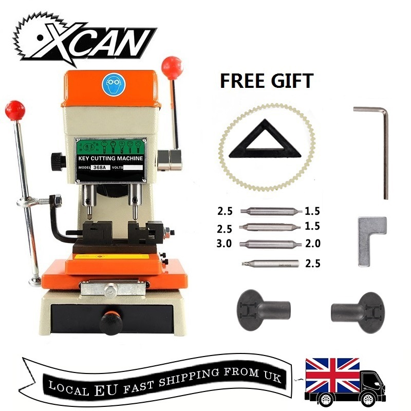 XCAN 368A Machine de découpe de clé Machine de duplication de clé verticale pour copie voiture/porte clés serrurier outils Machine de coupe de clé