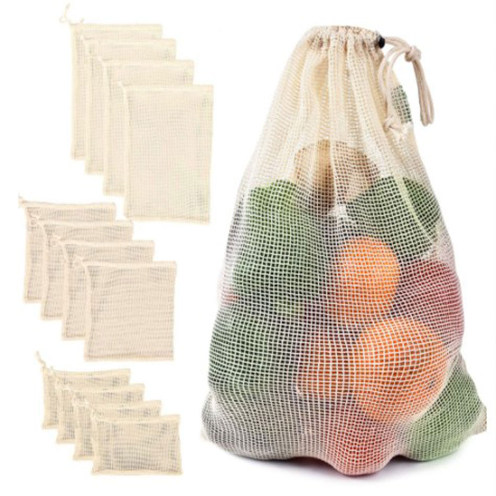 Green Supermarket Shopping Cotton Net Bag String String Mouth Fruit And Vegetable Bags
