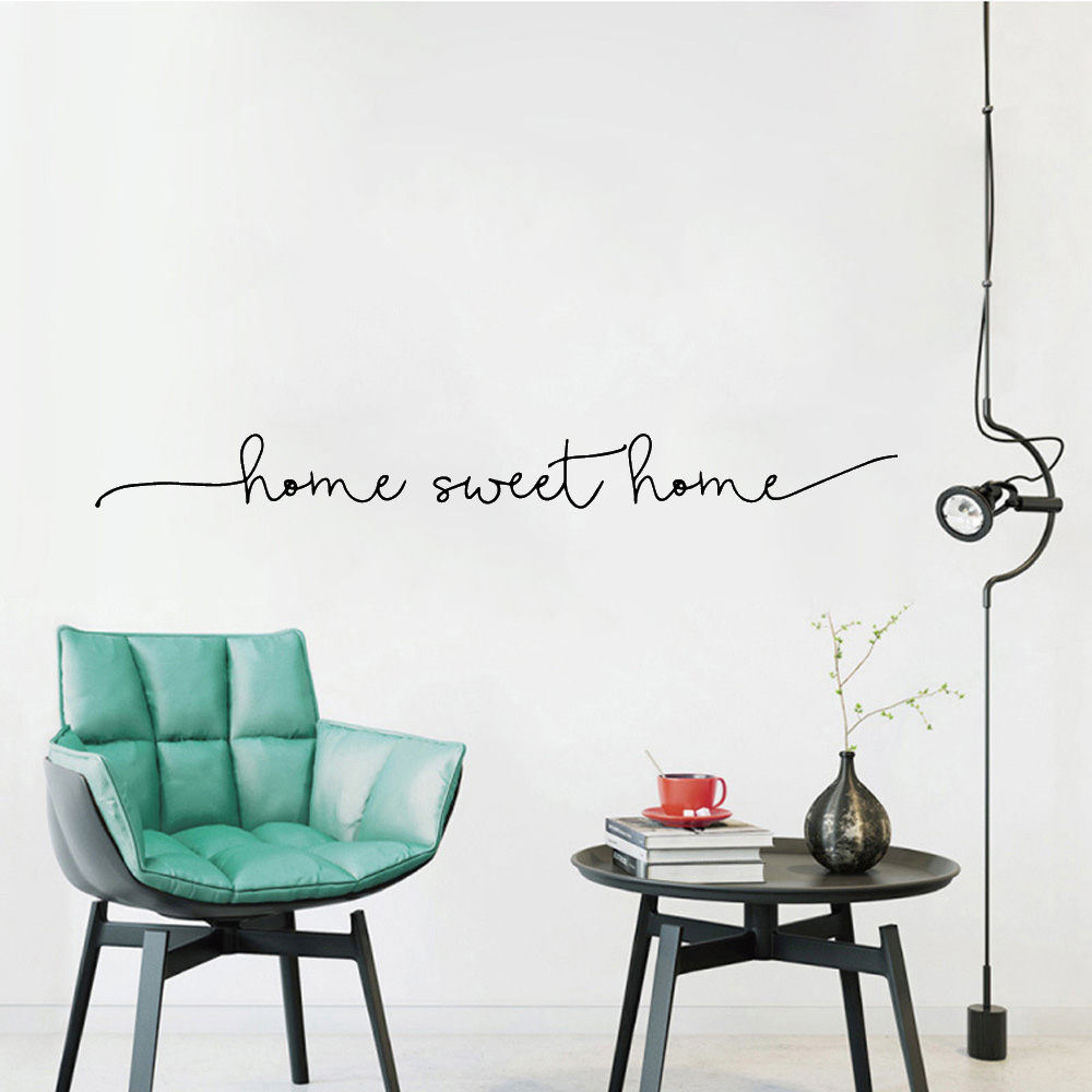 Exquisite Home Sweet Home Phrase Wall Sticker Art Decal For House Decoration Wall Decals Bedroom Decor Vinyl Mural Wallpaper