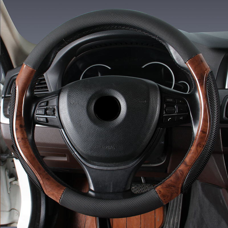Car Wood Steering Wheel Cover Cover Sets Wooden Styling,for BMW