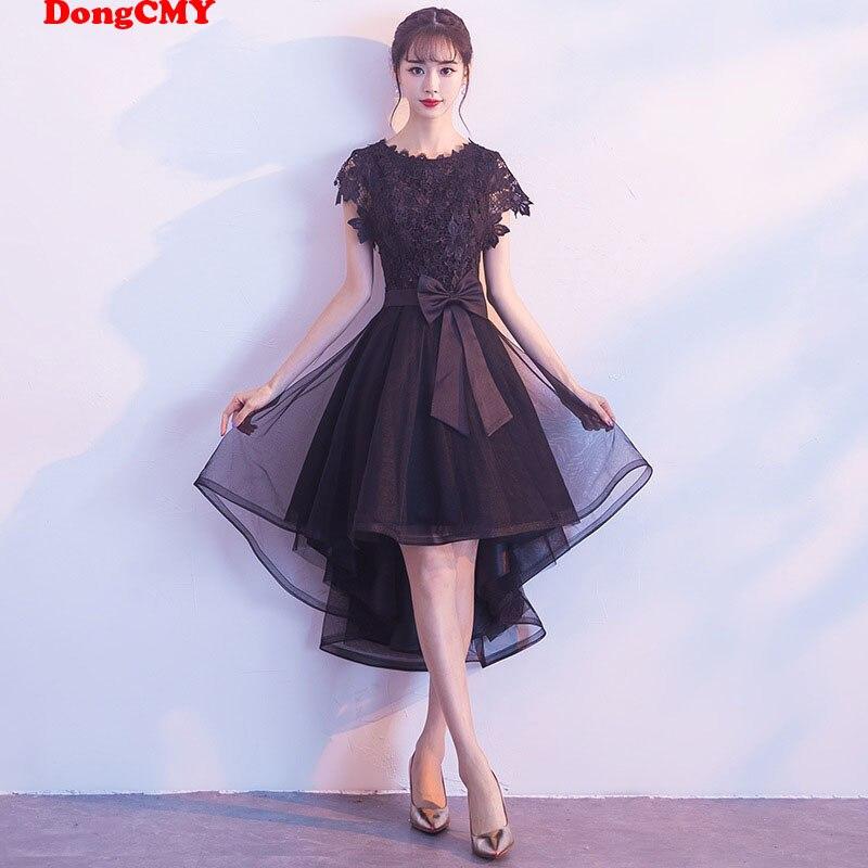 DongCMY Formal Little Black Dresses Elegant Vestido Lace Party Dress