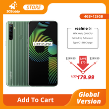 realme 6i 4GB RAM 128GB ROM Mobile Phone Helio G80 Octa Core Global Version 5000mAh Battery 48MP AI Quad Camera 6.5'' Display