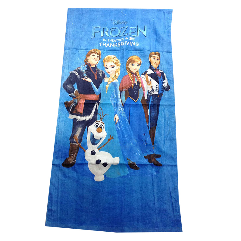 Disney Elsa Princess Frozen Family Portfolio Baby Bath Towel Beach/Pool/ Shower Towel Kids Girls Boys Gift Swimming 60x120CM