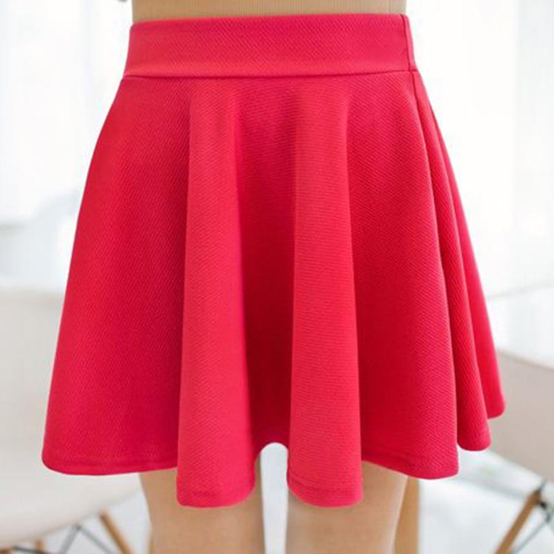 Elastic Waist Mini Skirt Hot Short Dress Party Clubwear Summer Women High Waist Plain Skater Dance 2019