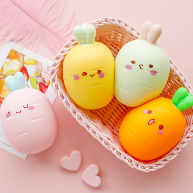 Squishy Carrot Cheap Slow Rising Squeeze Simulation Funny Cute Toy Soft Scented Kid Toys Birthday Gifts Collections For Children