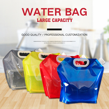 5L Foldable Water Bag Tasteless Safety Seal Portable Drinking Container Survival Storage for Camping Hiking BBQ