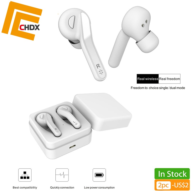 CHDX Wireless Noise Reduction Earphones Bluetooth 5.0 Headphones Sports Gaming Driving Earbuds with Microphone Good Quality