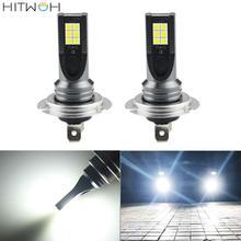цена на 1Set H7 100W 12000Lm LED Car Headlight Car Front Bulb Super Bright White Beam 6000K 12V Car Modeling Fog Light Kit