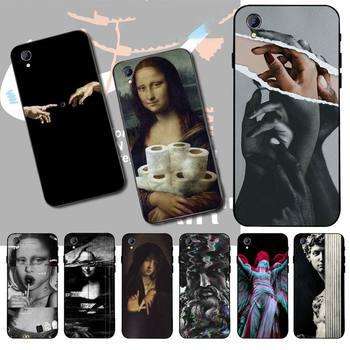 Перейти на Алиэкспресс и купить Чехол для телефона CUTEWANAN Mona Lisa David Art Style, ТПУ Мягкий силиконовый чехол для телефона Vivo Y91c Y17 Y51 Y67 Y55 Y93 Y81S Y19 V17 vivo s5