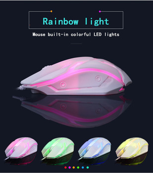 2020 Combo PC Gamer LED Gaming Keyboard And Mouse Set Wired Keyboard Gamer Keyboard Illuminated Gaming Keyboard Set For Laptop 6