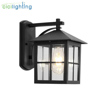 4W LED Wall Light,Outdoor Waterproof IP65 Porch Garden Wall Lamp,Home Sconce Indoor Metal Glass Decor Lighting Lamp AC90-260V