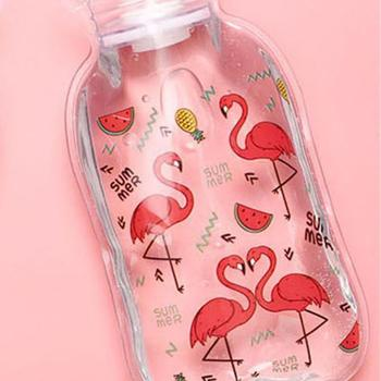 Cartoon Transparent Hand Warmer PVC Hot Water Bottle Winter Reusable Water Injection Hot Water Bag Cute Warm Treasure Supplies image