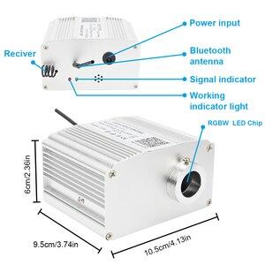 Image 5 - Smartphone APP Control Fiber Optic Licht 10W Twinkle Wirkung Bluetooth & Musik Steuerung RGBW LED Lichter Kit Sterne Decke beleuchtung