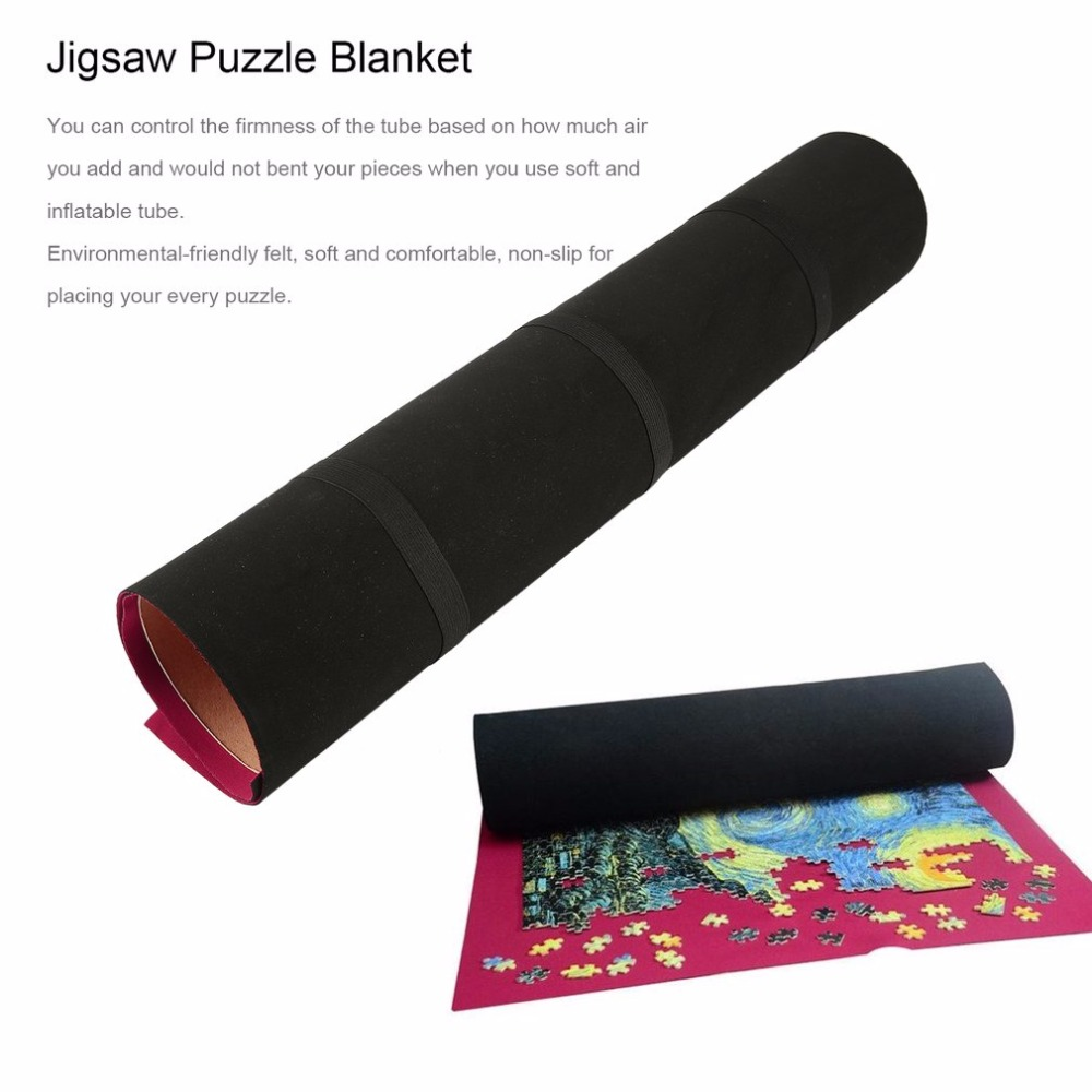 <font><b>500</b></font>/1000 <font><b>Pieces</b></font> Flexible Roll Mat for Storage <font><b>Jigsaw</b></font> <font><b>Puzzle</b></font> Blanket Solid Color Space-saving <font><b>Puzzles</b></font> Assemble Toys For Children image