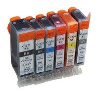 Cartuchos de tinta pgi 225xl cli 226xl substituição para canon pixma tinta ix6520 ip4820 ip4920 mx882 mx892 mg6110 impressora jato de tinta
