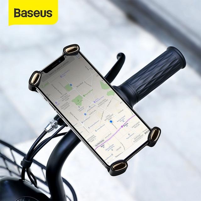 Baseus オートバイまたは自転車用のユニバーサル携帯電話ホルダー,iPhone用のハンドルバーマウント