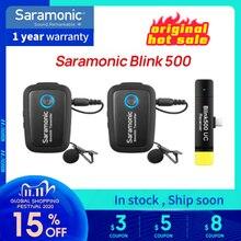 Blink 500 Série B1 Saramonic B2 B5 B6 2.4GHz Dual Channel Sistema de Microfone Sem Fio de Lapela com Blink500