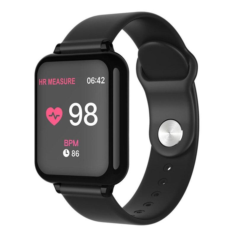 B57 Watch with Heart Rate Monitor de Pressão Arterial Do Bluetooth Inteligente À Prova D' Água Esporte Atividade Rastreador De Fitness Relógio Wearable