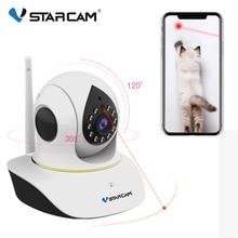 Vstarcam 1080P Pet IP kamera Wifi Video gözetim güvenlik kamera uzaktan kumanda lazer oyun Pet görüntülü interkom IR gece