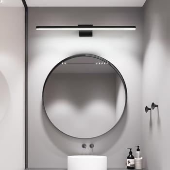 L400 600 800mm nowoczesne łazienkowe oświetlenie led na lustro ubikacja lustro lampy do domu toaleta dresser oświetlenie czarny lub biały wykończone tanie i dobre opinie FANPINFANDO Dół Foyer Bed room Jadalnia Łazienka Badania ROHS Klin 90-260 v Pokrętło przełącznika Aluminium Shadeless