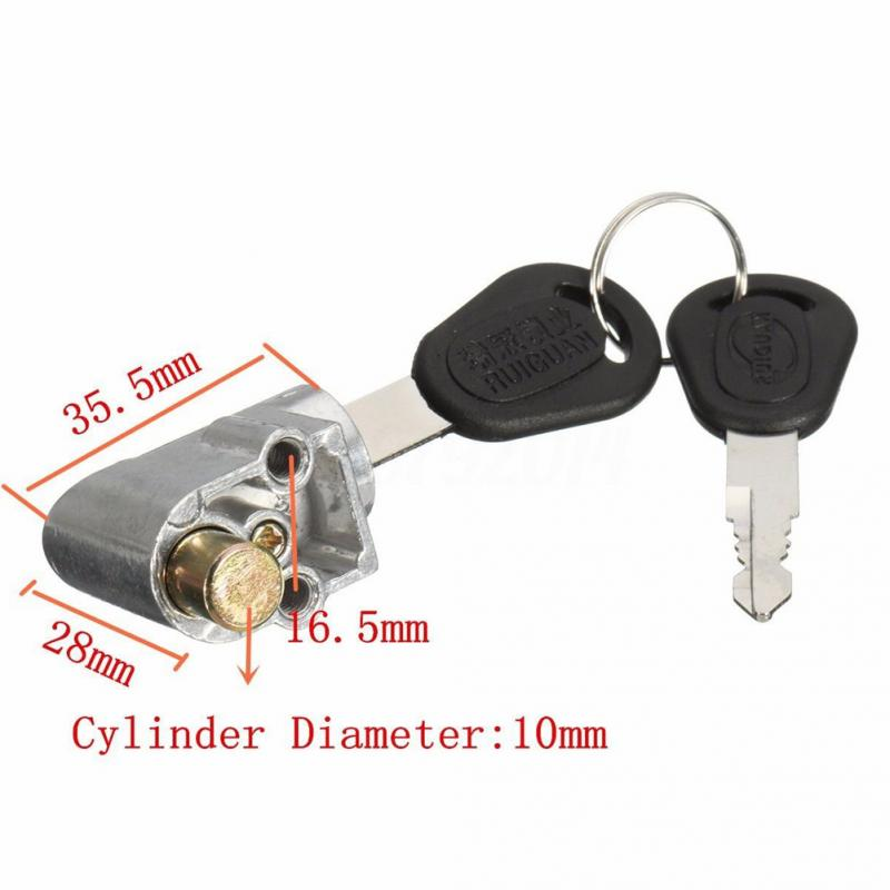 Electrombile Battery Safety Pack Box Lock 2 Key For Motorcycle Electric Bicycle Scooter Battery Lock