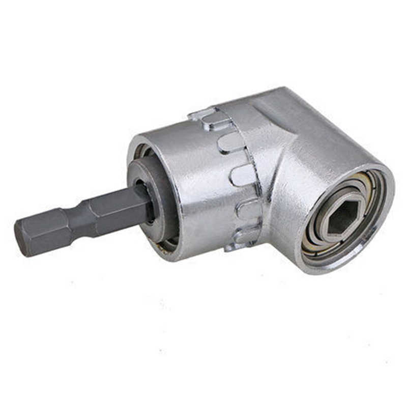 1/4 Hex Socket Close Corner 105 Degree Right Angle Drill Extension Shank Quick Change Driver Drilling Screwdriver Magnetic Tool