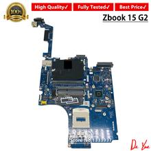Dla HP ZBOOK15 G2 laptopa płyty głównej płyta główna w 784467-601 786493-601 784468-601 ZBL15 LA-B381P 100 pełna testowane płyty głównej płyta główna tanie tanio Kai-Full Niezintegrowanych Hewlett-Packard İntel HM87 zbook 15 g2 DDR3 Używane