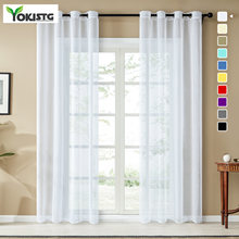 Однотонные однотонные шторы yokistg для гостиной спальни вуаль