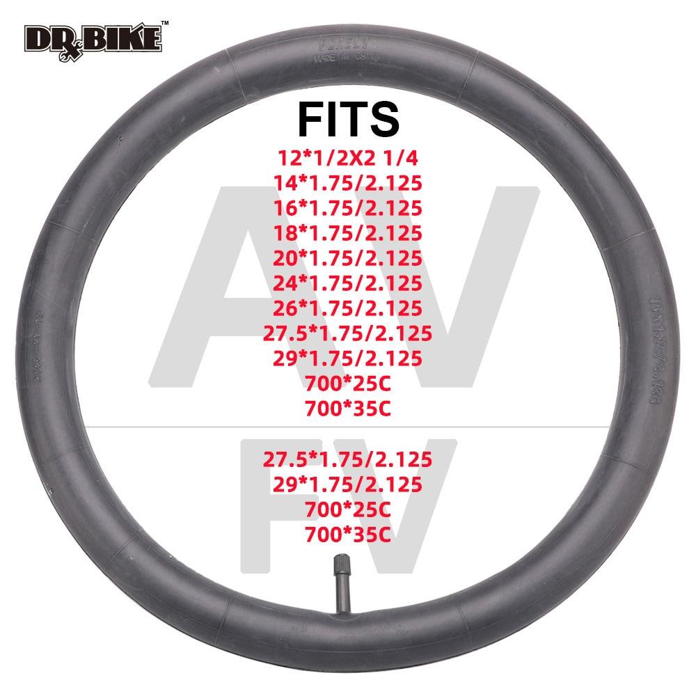 Велосипедные шины 12/16/20/24/26 дюйма, внутренние камеры, шины Schrader, ширина 1,75/2,125 дюйма, велосипедные шины, резиновая трубка для горного велосипе...