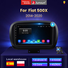 Junsun V1 4G + 64G Android 10 AI Control de voz radio auto pantalla Carplay para Fiat 500X 2014 - 2020 Multimedie Bluetooth dab +
